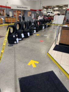 one way safe flow in a Canadian dealership