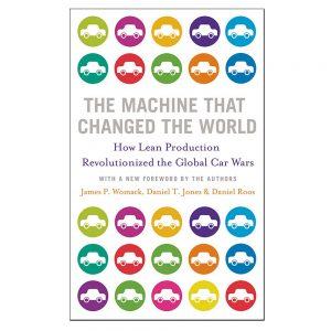 The Machine That Changed the World book cover - authors James Womack, Daniel Jones and Daniel Roos